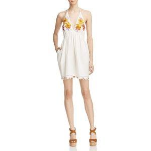 Free People Love & Flowers T-Back Mini Dress M